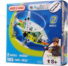 Meccano Multi Models 2 Set (Crane & Helicopter: 103 pieces) - Only £4.79 + Free Delivery to Local Store @ WH Smith
