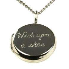 "Silver Round Wish Upon A Star Locket Pendant + 18"" Curb Chain £6.00 @ Amazon"