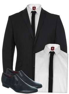 Free Shoes, Shirt & Tie with Every Suit (Jacket & Trousers) - From £99 @ Burton