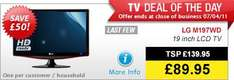 LG M197WD - HD Ready LCD TV Monitor With Freeview - £89.95 Instore @ Richer Sounds