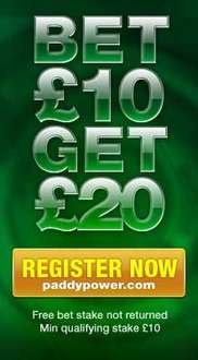 £20 Free Bet When £10 Bet Done - Great For Grand National @ Paddy Power