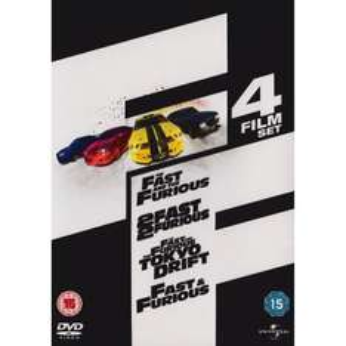Fast & Furious 1-4 Box Set (DVD) - £13.99 @ Amazon & Play