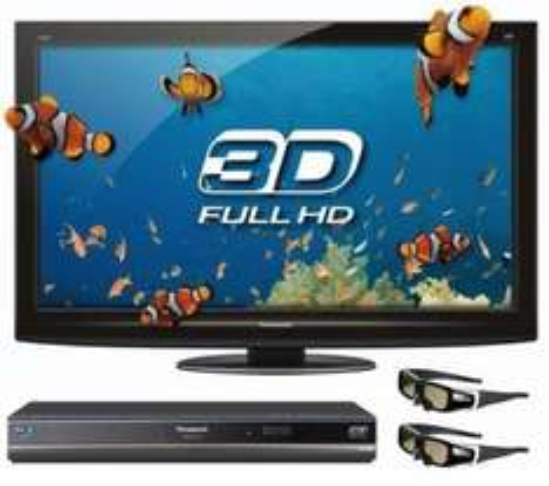 "Panasonic Viera TX-P42GT20B - 42"" Full HD 3D Ready Plasma TV + DMP-BDT100EG 3D Blu Ray Player + TY-EW3D2ME 3D Glasses - Medium (x2) - £998 Delivered @ Currys"