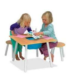 Kids Craft Table & 2 Stools - £18.98 Delivered @ Ebay Argos Outlet