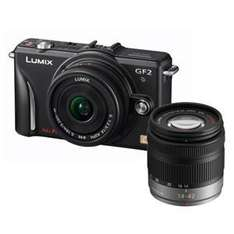 """Panasonic Lumix DMC-GF2 Twin Lens Kit in Black or Red + Free Photography Gift Pack worth £150 + Free Jessops 8"""" Compact Digital Picture Frame + Free Delivery - £538.95 @ Jessops"""