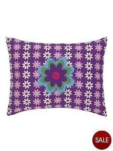 Flower and Spot Filled Cushions - 2 pack (was £19) Now £5.50 delivered at Littlewods