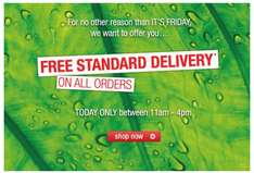 Free standard delivery on all orders. 11AM-5PM @ The body shop