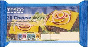 Tesco cheese singles 20 half price 86p