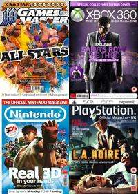 3 Issues of Official Nintendo, Xbox 360, PlayStation & Games Master Magazines For £1 @ My Favourite Magazines