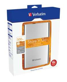 "Verbatim 500GB USB3 2.5"" Portable HDD - Just £39.99 Delivered @ Comet"