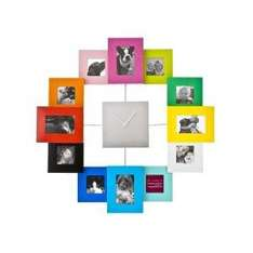 PT Photo Family Time Frame Clock (Large) Coloured or Silver - £11.98 Delivered @ Amazon