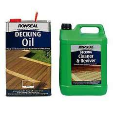 Deckin oil and cleaner reduced to £27.57 @ Screwfix