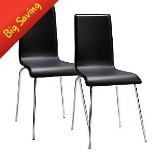 Rome Dining Chairs - Pair £30 + £4.95 P&P @Asda