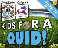 Coventry City vs Scunthorpe, Kids For A Quid (22 Apr '11) @ Coventry City Football Club