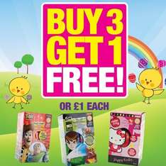 Easter eggs buy three get one free @ poundland