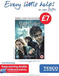 Harry Potter And The Deathly Hallows Part 1 (DVD) (2 Disc) - £7 Instore & Online @ Tesco