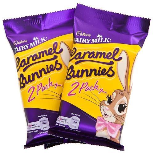 cadbury's dairy milk caramel bunnies 2 pack, 3 for £1 @ poundland