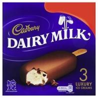 Cadbury Dairy Milk Luxury Ice Creams (3x100) @ Asda