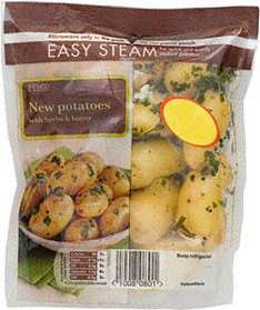 Tesco New Potatoes with Herbs & Butter (375g) now 2 for 1 £1.00 @ Tesco