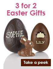 Thorntons Buy two Easter Eggs get one free including names iced for free