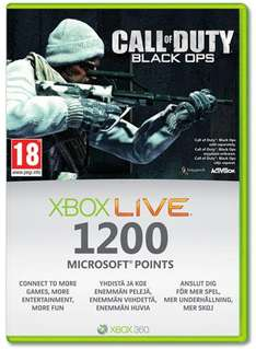 Xbox Live 1200 Points Call of Duty Card - 99p Trade In Deal @ Game