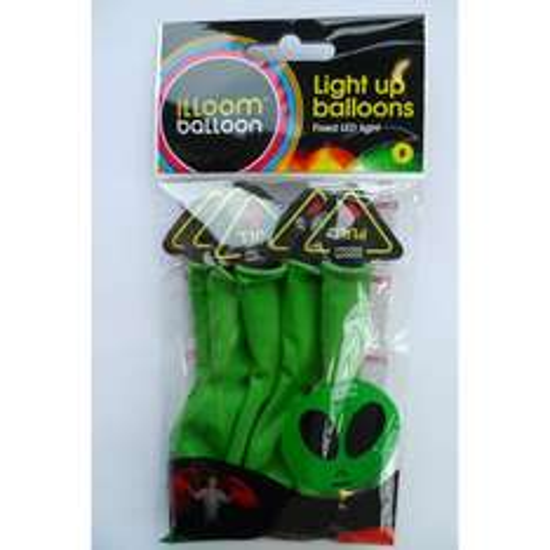 illoom LED Balloons 5 Pack (Green Alien) - £1.75 Instore @ Tesco