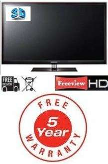 """Samsung PS51D550 - 51"""" 3D Plasma TV (Free 5 Year Warranty) - £828 @ Cheap Electricals"""