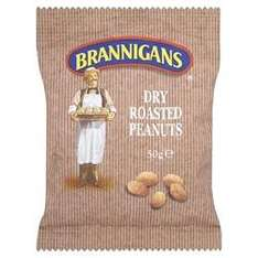 Brannigans Dry Roasted Peanuts 50g (pub size) pack ONLY 10p @ B & M