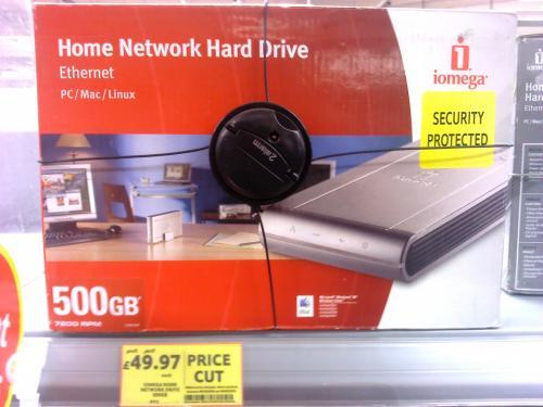 Iomega 33456 500gb Home Network NAS Drive - £49.97 @ Tesco