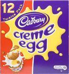 box of 12 cream eggs for £2.49 in homebargains