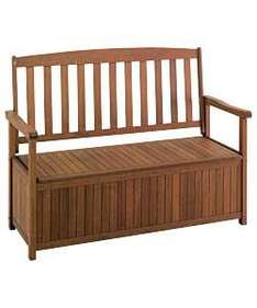 Antique Pine Wooden Garden Bench and Cushion Box Inc Delivery £45.05 @ Argos