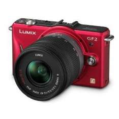 Panasonic Lumix GF2 Digital Camera with 14mm & 14-42mm Lenses - Red (+ Free Photography Gift Pack Worth £150) - £469.95 Delivered @ Amazon