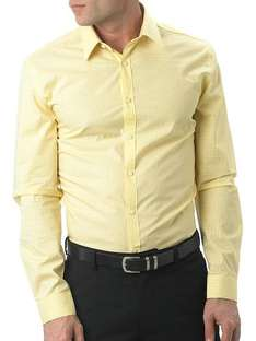 Kenneth Cole Formal Slim Fit Mini Gingham Shirt Yellow - was £65 now £9.49 @ eBay House of Fraser Outlet