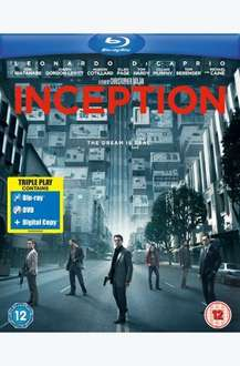 Inception (2010) - Triple Play (Blu-ray + DVD + Digital Copy) - £12.69 (with code) @ Tesco Entertainment + 8% Quidco