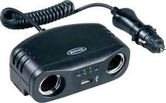 Ring Automotive 12V Car Multisocket (1 into 2 plus USB) with Battery Analyser - £8.95 Delivered @ 7 Day Shop