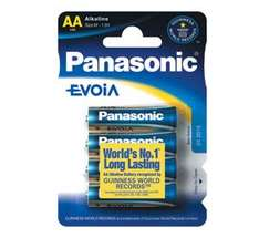 Panasonic EVOiA AA  4 Pack Batteries (Worlds Longest Lasting AA Alkaline Battery) £1.49 delivered @ 7dayshop