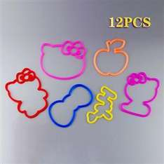 12pcs/pack Magic Kitty Character Silly Bandz Elastic Bracelets - was £2.07 now £1.09 @ Focal price