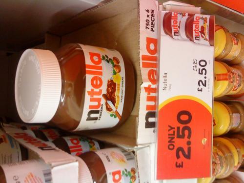 Nutella 750g £2.50 @ Sainsbury's