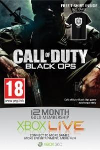 12 Months Xbox Live Gold Subscription + Black Ops T-shirt - £29.99 @ Sainsburys Entertainment