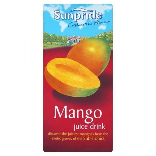 Sunpride, mango, exotic,tropical, or coconut 1lt juice 50p @ tesco