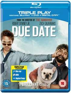 Due Date - Triple Play (Blu-ray + DVD + Digital Copy) - £12.69 (with code) @ Tesco Entertainment (+ 8% Quidco)