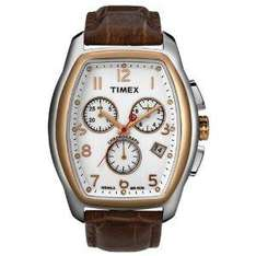 Timex Mens Watch T2M985PA T Series with Brown Leather Strap and Chronograph Display - £40 @ Amazon