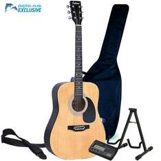 Acoustic Guitar Pack (Falcon FG100 Guitar, Korg Tuner, Tripod, Gig bag and Strap) - £59 @ Dolphin Music (4% TCB)