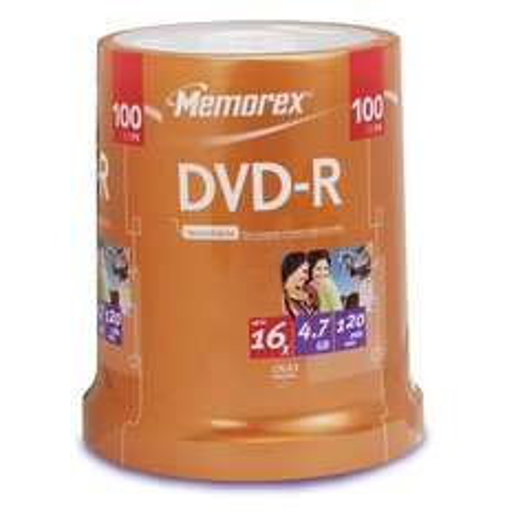 Memorex Blank DVD-R 16x 100 Pack Cakebox - £5 + vat = £6 @ Makro (Leicester)