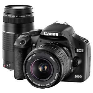 Canon EOS 500D + 18-55mm + 75-300mm Twin Lens Kit - £599 @ Jessops