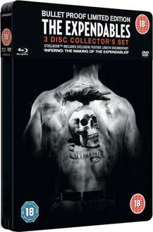 The Expendables: Steelbook Collector's Edition (Blu-ray + DVD) (3 Disc) - £9.95 delivered @ Base