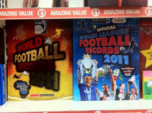 Official English Leagues' / World Football Records 2011 - £1 each @ Poundland