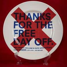 Funny Unofficial Royal Wedding Plates (inc Thanks for the Free Day Off/ 4day bender) £16.99 @ Firebox
