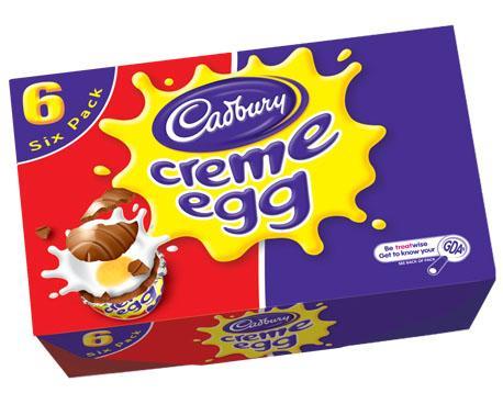 6 x cadbury creme eggs £1.50 @ tesco