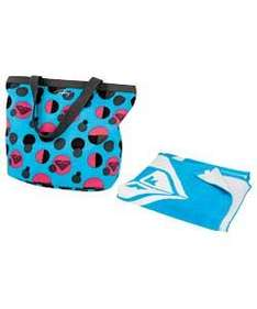 Roxy Cabana Aqua Blue Beach Bag & Towel - £10.98 Delivered @ eBay Argos Outlet